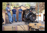 "Jeff Tolan and friends fire up Jack Bodenmann's 5"" scale #9 - one of the biggest engines on 7.5"" gauge rails."
