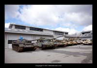 tanks outside waiting to be restored.