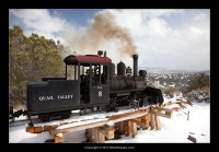 Quail Valley Railway in snow